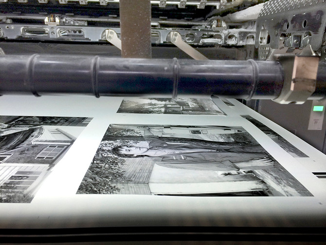 Another set of sheets coming through the press