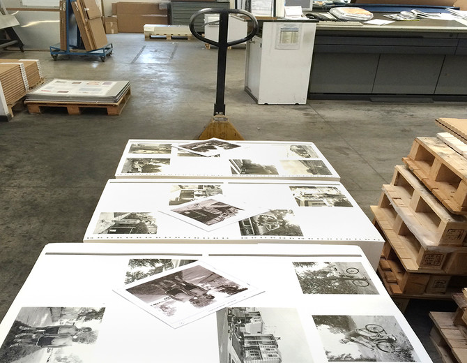 Printed sheets ready to be shipped to the bindery