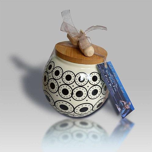 Main à Sel Boule en céramique et bouchon bois - Sel Gris tamisé