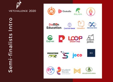 Congratulations to Vietchallenge 2020 Semi-finalists