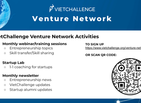 Join VietChallenge Venture Network for opportunities to give back to the startup community