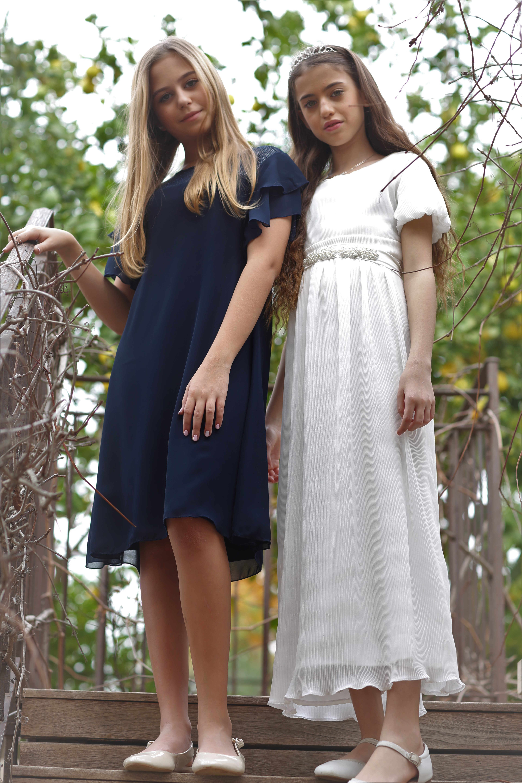 שמלה לבנה פליסה
