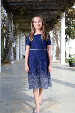 שמלה כחולה עם טול