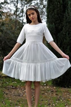 שמלת קומות שיפון ליקרה