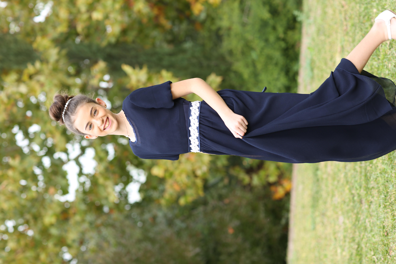 שמלת פליסה כחולה