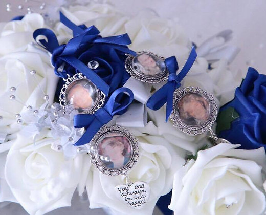 Bridal Bouquet Charm Double Triple