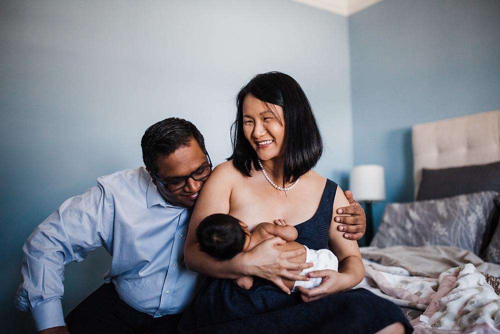 in-home newborn session san francisco