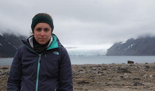 Arctic Expedition in Svalbard Norway.  Möllerfjorden