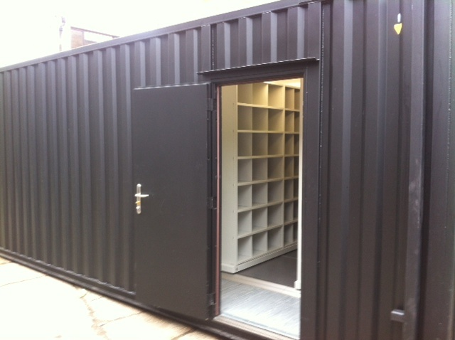 file storage in shipping container