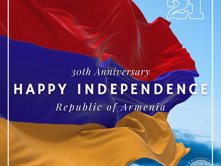 Assembly Statement on Armenia's 30th Independence Anniversary