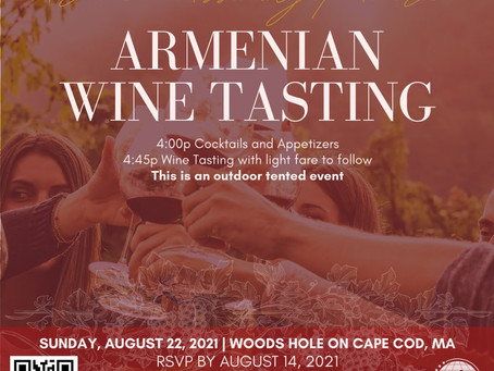 Don't Miss the Assembly's Cape Cod Outdoor Armenian Wine Tasting