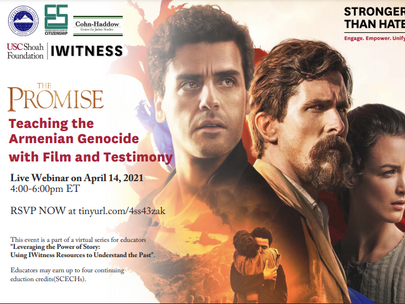 Armenian Genocide Workshop Series for Teachers & Live Webinar on April 14