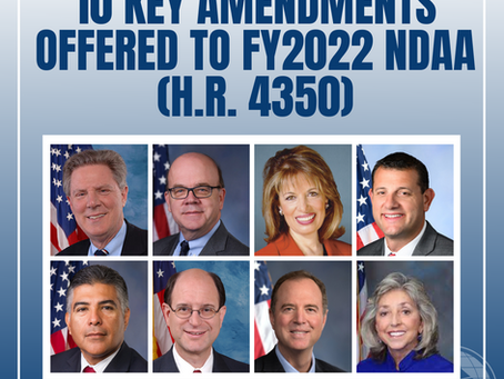 Assembly Welcomes Key Amendments to the NDAA (H.R. 4350)