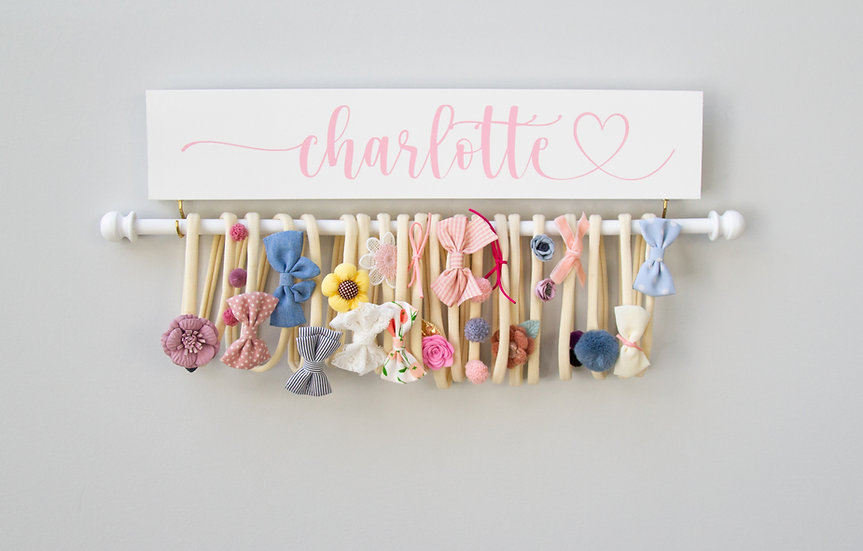 Personalized Headband Holder,  Hand Painted Bow Holder,  Jewelry Organizer