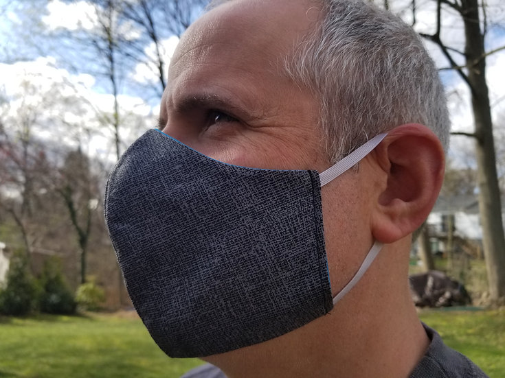 Fabric Face Mask, Men's, Reversible Cotton Face Mask, Washable and Reusable