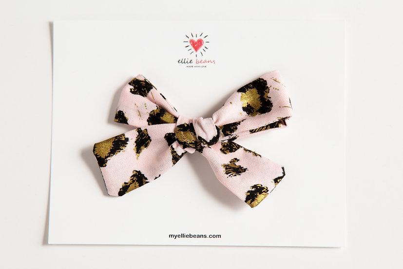Leopard Bow, Leopard Print Bow, Cotton Fabric Hair Clip, Animal Print Bow