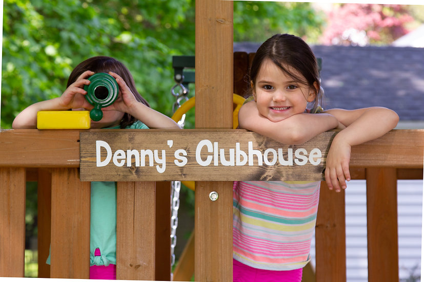 Personalized Playground Name Sign, Hand painted sign, Outdoor Clubhouse sign