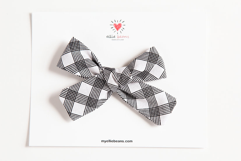 Black and White Bow, Nylon Baby Headband, Baby Girl Bows, Black and White Bow
