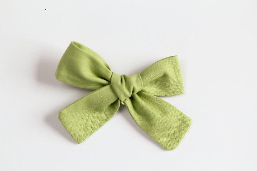 Spring Green Hand-tied Baby Hair Bow, Baby Headband
