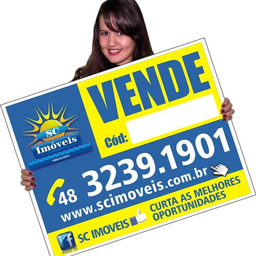 Placa Polyonda TAM. 100x65cm, Valor Unitário para 30 unidades