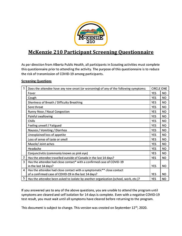McKenzie 210 Screening Questionnaire-pag
