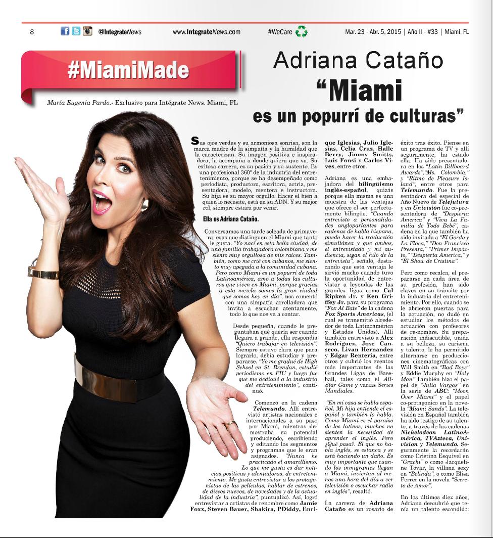 Adriana Catano Integrate News