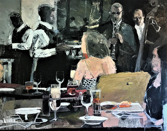 Lunch in New Orleans II, 56 x 72 INQUIRE