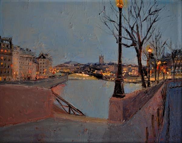 Seine River at Dusk, Paris - France