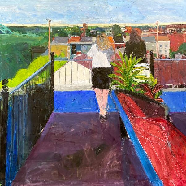 Women on a Roof Deck