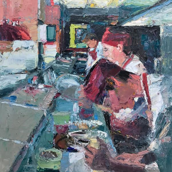 Lautrec VII - In The Kitchen