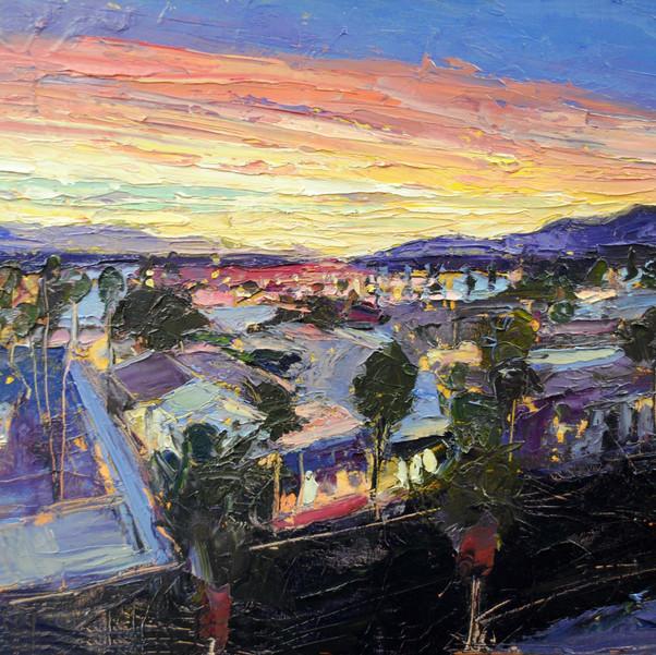 Palm Springs at Dawn, California