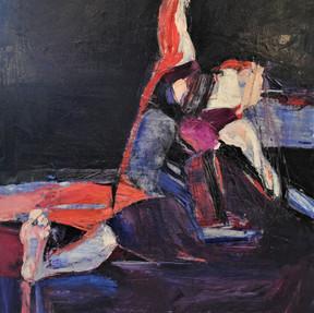 Dancer on Stage in Blue Violet