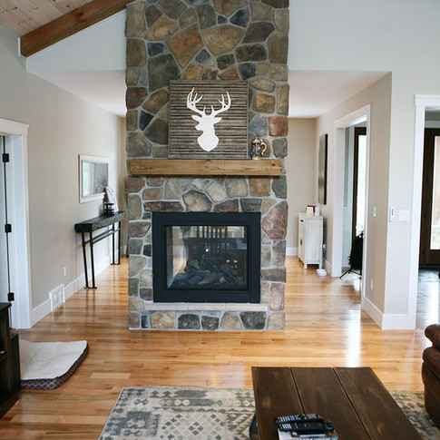 Custom stone fireplace, Port Elgin ON