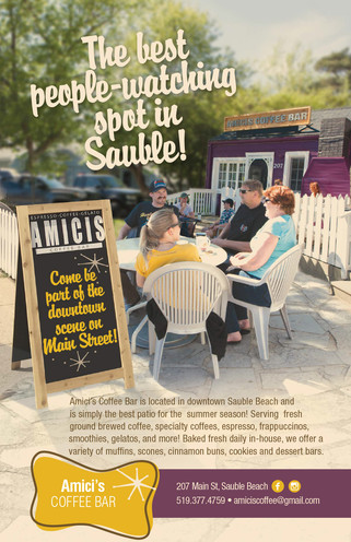 Amichi Cafe Ad in Sauble Beach Booklet