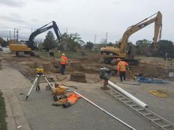 Street Sewer & Water Main Excavation