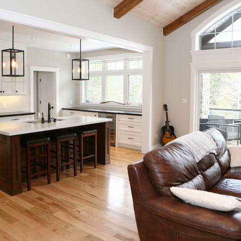 Open concept living area, custom builder