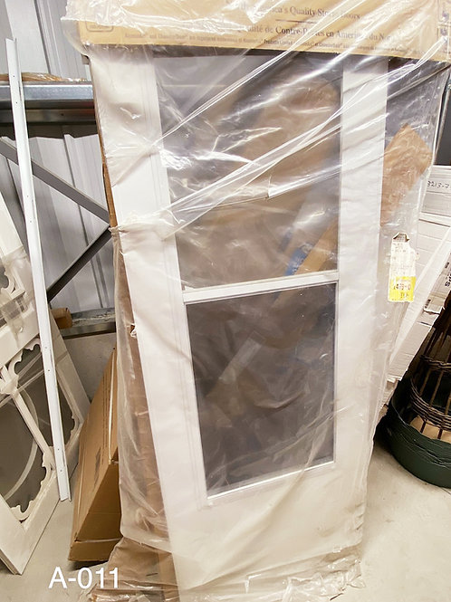 White Aluminum Storm Door A-011