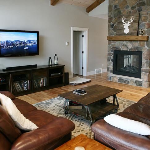 Custom living room in Saugeen Shores