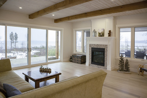 Living room with view of Lake Huron