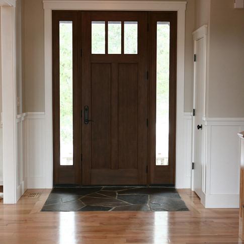 Front door, interior shot in bungalow