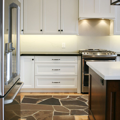 Tile work in custom kitchen, Saugeen Shores ON