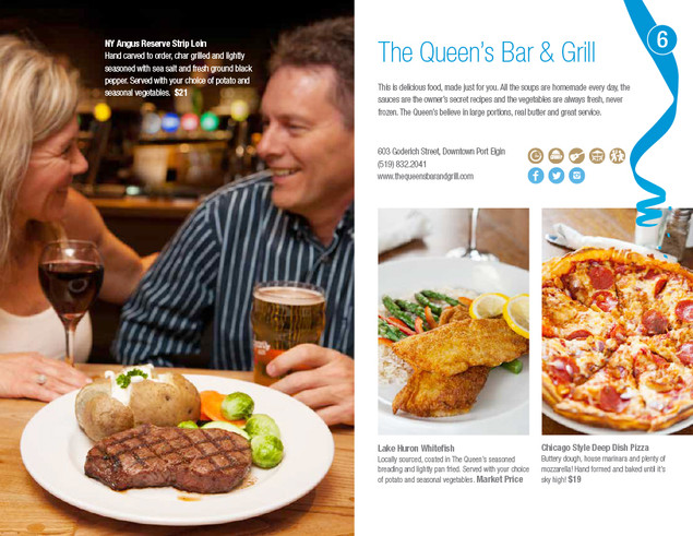 Queen's Bar & Grill, Port Elgin Dining Guide