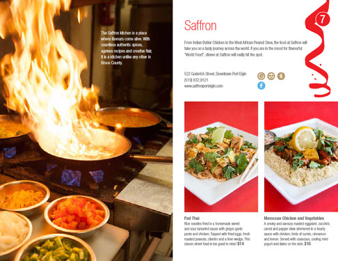 Saffron, Port Elgin Dining Guide