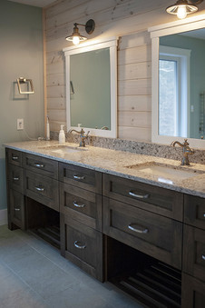 His and hers sinks in custom ensuite