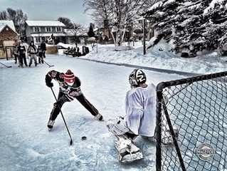 Classic Outdoor Hockey Rink