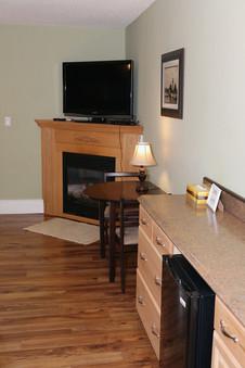 Gas Fireplace & Flat Screen TV