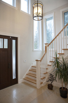 Entry in two story energy effient home