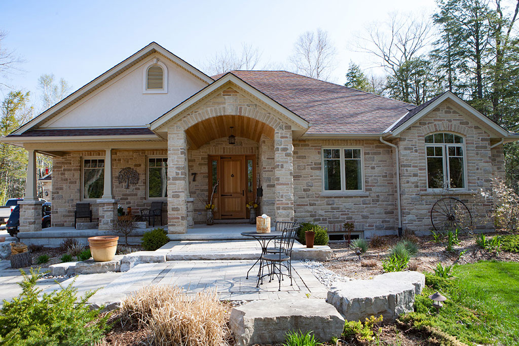 Saugeen Shores Ontario Custom Homes Exterior Of Brick Bungalow