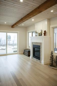 Pot lights in living room, Saugeen Shores