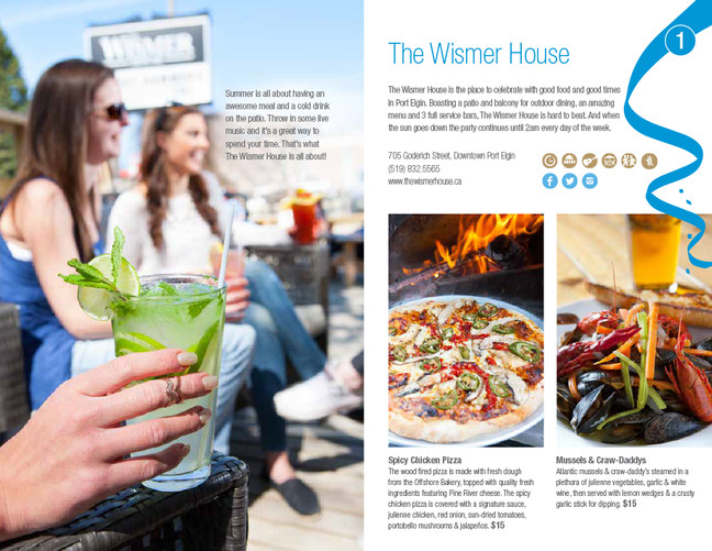 The Wismer House, Port Elgin Dining Guide